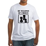 Chessman - WeaponOfChoice Fitted T-Shirt