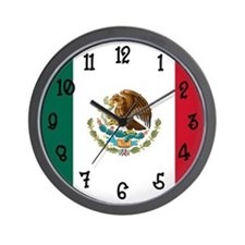 Mexico Flag Clock