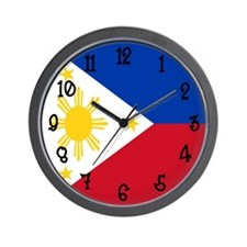 Phillipines Flag Wall Clock