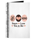 Peace Love You and Me Valentine Journal