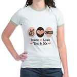 Peace Love You and Me Valentine Jr. Ringer T-Shirt
