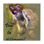 Mating Upland Chorus Frogs Tile Coaster