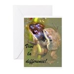 Mating Upland Chorus Frogs Greeting Cards (Pk of 1