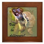 Mating Upland Chorus Frogs Framed Tile
