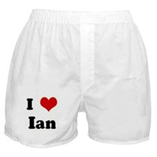 I Love Ian Boxer Shorts