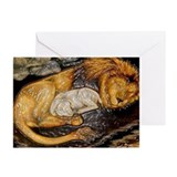 The Lion and the Lamb Stained Glass Greeting Cards