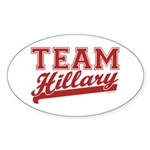 Team Hillary Red Oval Sticker