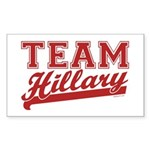 Team Hillary Red Rectangle Sticker