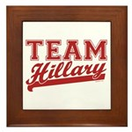 Team Hillary Red Framed Tile