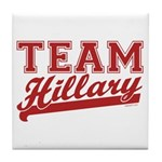 Team Hillary Red Tile Coaster