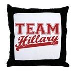 Team Hillary Red Throw Pillow