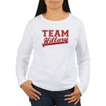 Team Hillary Red Women's Long Sleeve T-Shirt