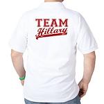 Team Hillary Red Golf Shirt
