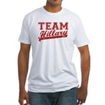 Team Hillary Red Fitted T-Shirt