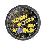 Kasey Rocks My World (Gold) Wall Clock