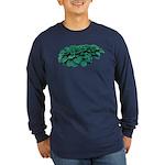 Blue Hosta Long Sleeve Dark T-Shirt
