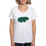 Blue Hosta Women's V-Neck T-Shirt