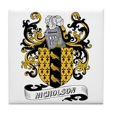 Nicholson Coat of Arms Tile Coaster