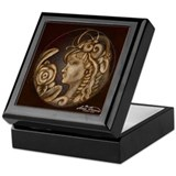 Darla cameo antique sepia Keepsake Box