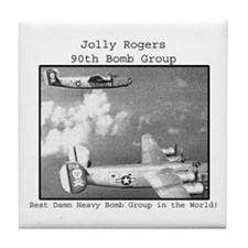 WWII - 90th Bomber Group Tile Coaster