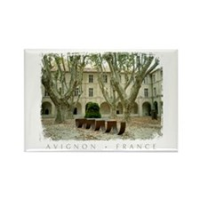 Avignon Courtyard Rectangle Magnet