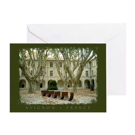 Avignon Courtyard Greeting Card