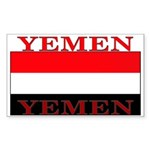 Yemen Yemeni Flag Rectangle Sticker