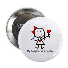 """Red Ribbon - Daughter 2.25"""" Button (10 pack)"""