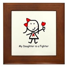 Red Ribbon - Daughter Framed Tile