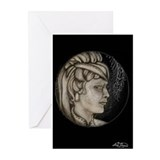 Margery cameos onyx Greeting Cards (Pk of 10)