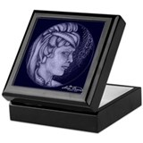 Margery cameos Royal blue Keepsake Box
