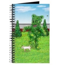 Jack Russell Peeing on Bear Hedge Journal