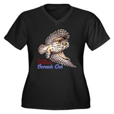 Cool Barn owl Women's Plus Size V-Neck Dark T-Shirt