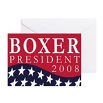 Boxer for President 2008 (6 Greeting Cards)