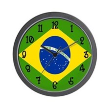 Brasilian Flag Wall Clock