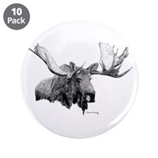 "Bull Moose 3.5"" Button (10 pack)"
