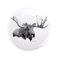 "Bull Moose 3.5"" Button"