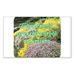 Gardeners are perennial Rectangle Sticker