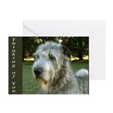 10 Irish Wolfhound Greeting Cards - Thinking of U