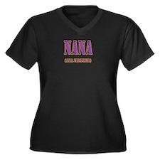 CLICK TO VIEW Nana Women's Plus Size V-Neck Dark T