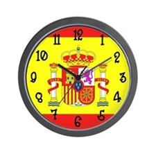 Spain Flag Wall Clock