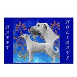 8 Irish Wolfhound Happy Holidays Postcards
