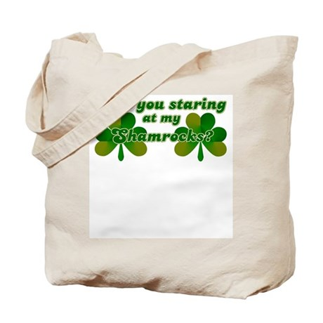 Are You Staring At My Shamroc Tote Bag