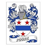 Poore Coat of Arms Small Poster