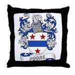 Poore Coat of Arms Throw Pillow