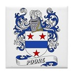 Poore Coat of Arms Tile Coaster