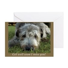 20 Irish Wolfhound Get Well Soon Greeting Cards