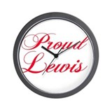 Proud Lewis Wall Clock