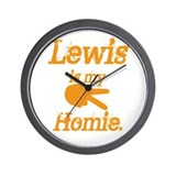 Lewis is my homie Wall Clock