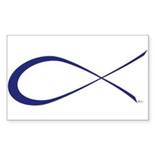 Ichthys (Jesus Fish) Rectangle Decal